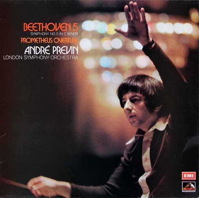 【オリジナル盤】 プレヴィンのベートーヴェン/交響曲第5番「運命」ほか 英EMI 3215 LP レコード