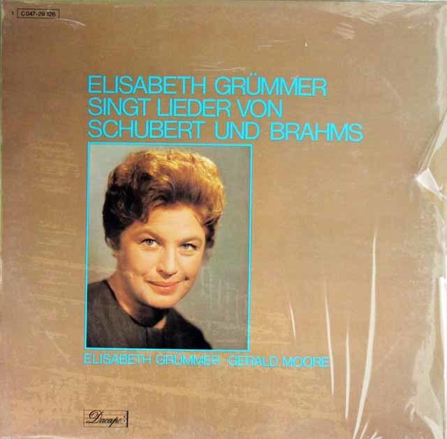 【未開封】 グリュンマーのシューベルト&ブラームス/歌曲集 独Dacapo(EMI) 3215 LP レコード