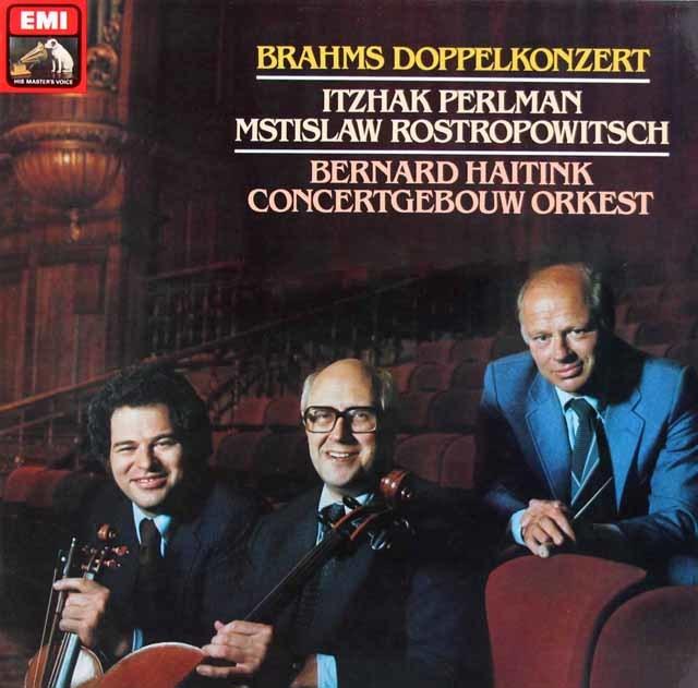 パールマン、ロストロポーヴィチ&ハイティンクのブラームス/二重協奏曲 独EMI 3215 LP レコード