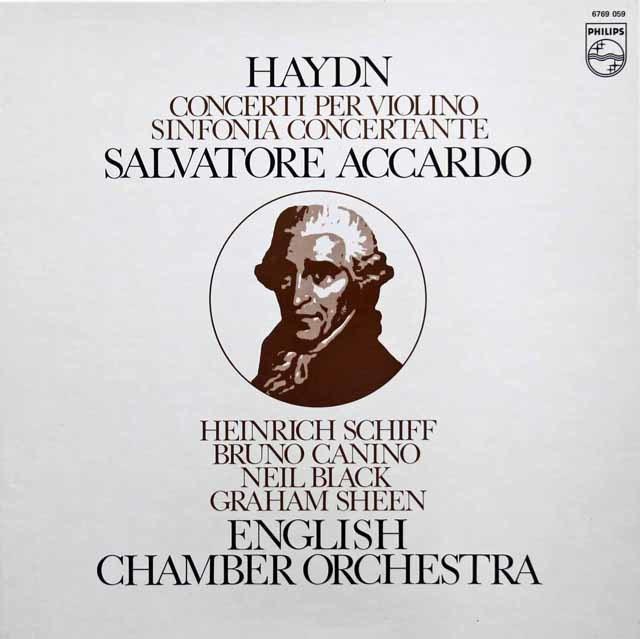 アッカルドのハイドン/協奏曲集 蘭PHILIPS 3215 LP レコード