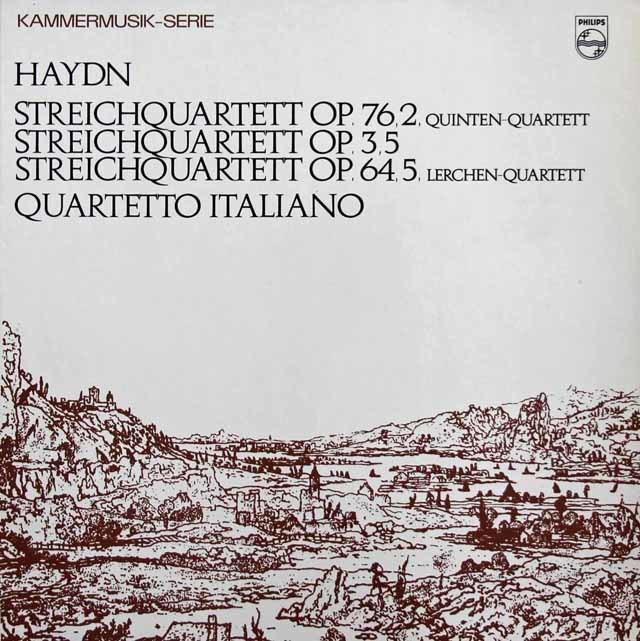イタリア四重奏団のハイドン/弦楽四重奏曲第67番「ひばり」&76番「五度」 蘭PHILIPS 3215 LP レコード