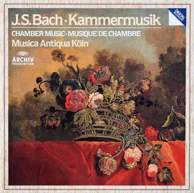 ムジカ・アンティクヮ・ケルンのバッハ/室内楽曲集 独ARCHIV 3215 LP レコード