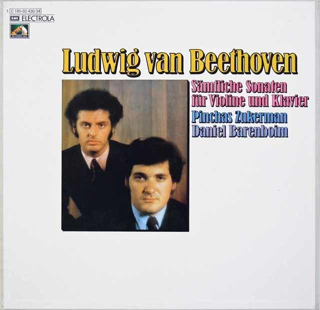 ズッカーマン&バレンボイムのベートーヴェン/ヴァイオリンソナタ全集 独EMI 3215 LP レコード