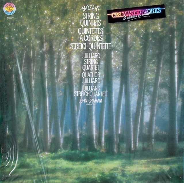 【未開封】 ジュリアード四重奏団&グラハムのモーツァルト/弦楽五重奏曲全集 CBS 3215 LP レコード