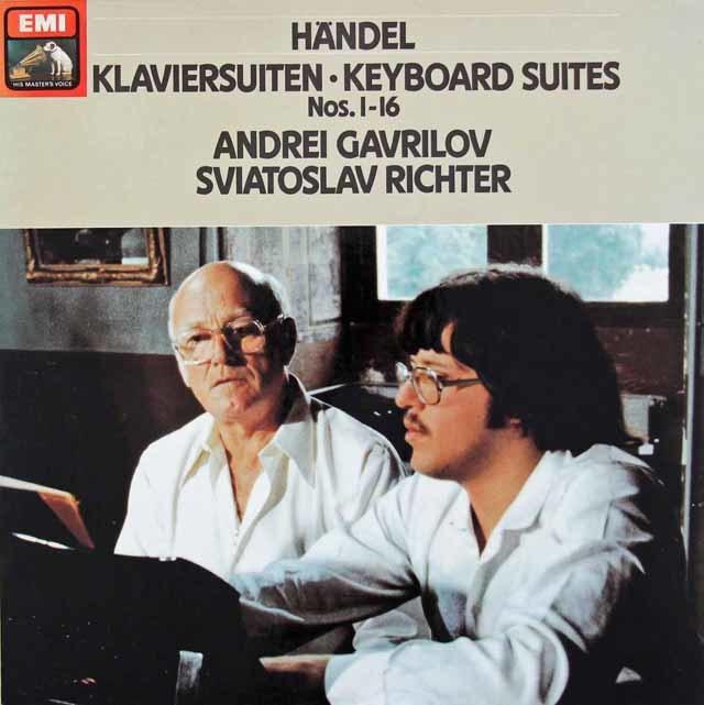 リヒテル&ガヴリーロフのヘンデル/クラヴィーア組曲第1~16番 独EMI 3215 LP レコード