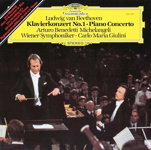 ミケランジェリ&ジュリーニのベートーヴェン/ピアノ協奏曲第1, 3, & 5番「皇帝」 独DGG 3216 LP レコード
