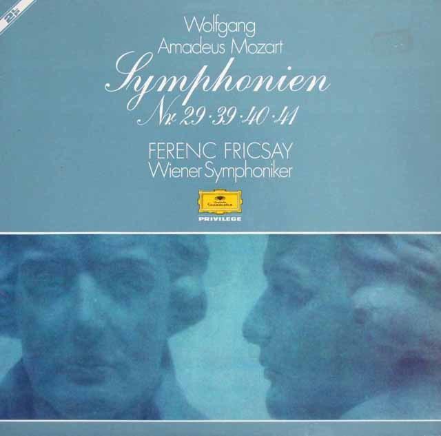 フリッチャイのモーツァルト/交響曲第29、39、40 & 41番「ジュピター」  独DGG 3216 LP レコード