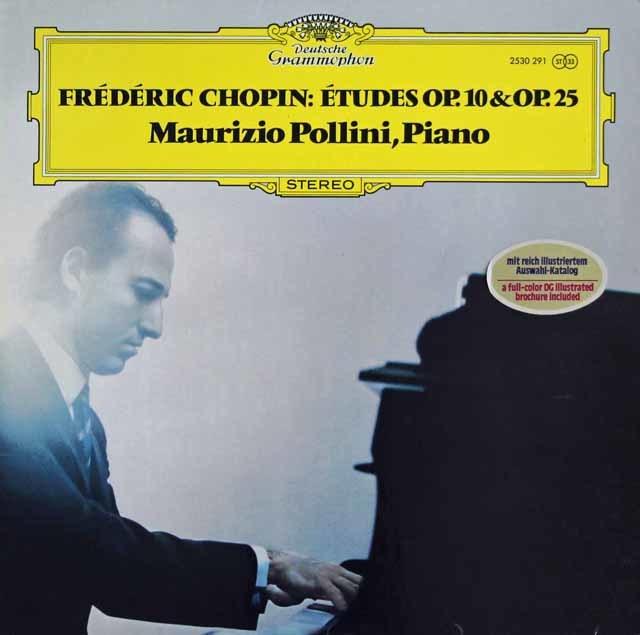 ポリーニのショパン/12の練習曲集 作品10 & 25 独DGG 3216 LP レコード