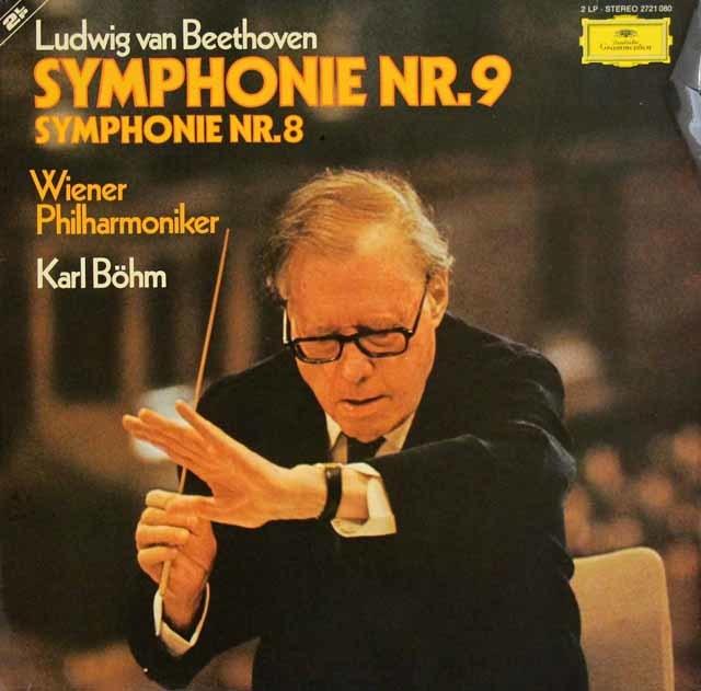 【一部未開封】ベームのベートーヴェン/交響曲第9番「合唱付き」&第8番 独DGG 3216 LP レコード