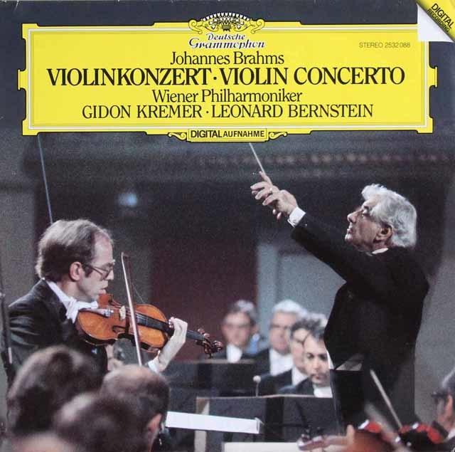 クレーメル&バーンスタインのブラームス/ヴァイオリン協奏曲 独DGG 3216 LP レコード