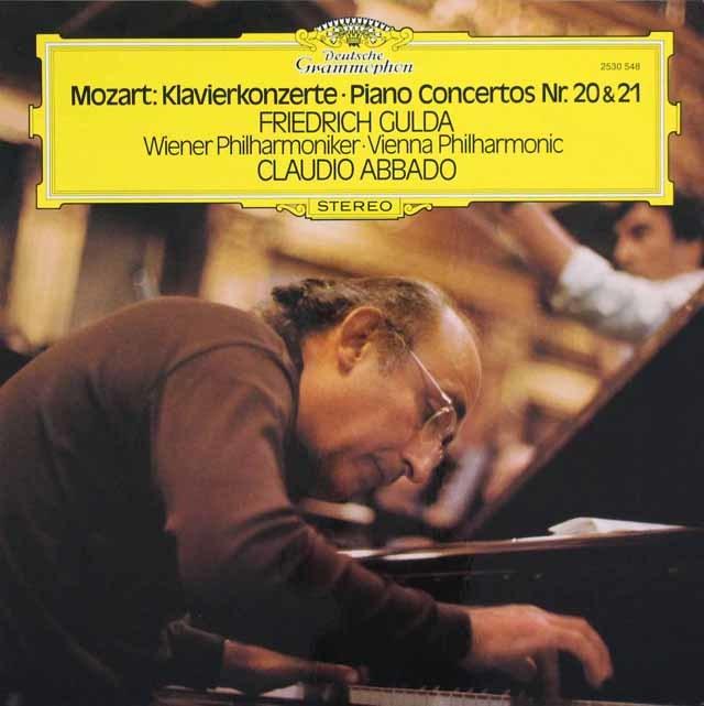 グルダ&アバドのモーツァルト/ピアノ協奏曲第20、21、25 & 27番 独DGG 3216 LP レコード
