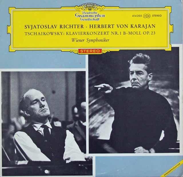 【赤ステレオ・オリジナル盤】 リヒテル&カラヤンのチャイコフスキー/ピアノ協奏曲第1番 独DGG 3216 LP レコード
