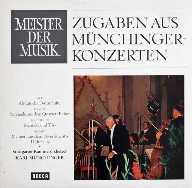 「ミュンヒンガー・アンコール」 バッハ/「アリア」ほか小品集 独DECCA 3216 LP レコード