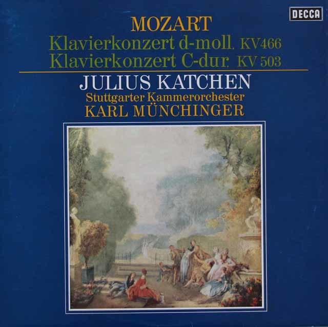 カッチェン&ミュンヒンガーのモーツァルト/ピアノ協奏曲第20番、25番 独DECCA 3216 LP レコード