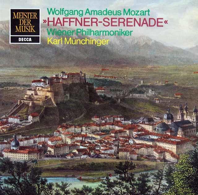 ミュンヒンガーのモーツァルト/ハフナー・セレナード 独DECCA 3216 LP レコード