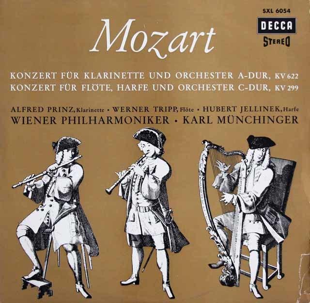 プリンツ&ミュンヒンガーのモーツァルト/クラリネット協奏曲ほか 独DECCA 3216 LP レコード