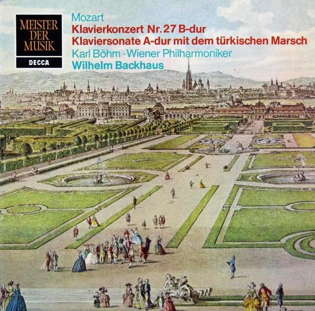 ベーム&バックハウスのモーツァルト/ピアノ協奏曲第27番ほか 独DECCA 3216 LP レコード
