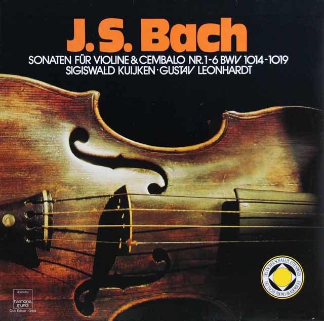 クイケン&レオンハルトのバッハ/ヴァイオリンとチェンバロのためのソナタ集 独HM 3216 LP レコード