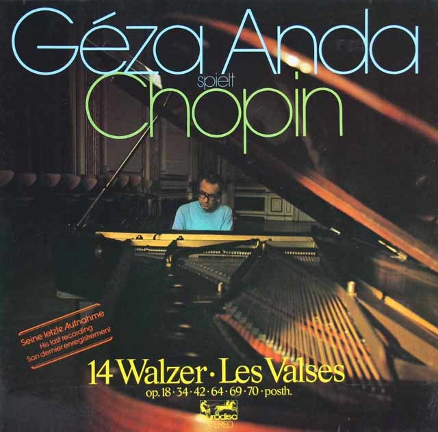 アンダのショパン/ワルツ集 独eurodisc 3216 LP レコード