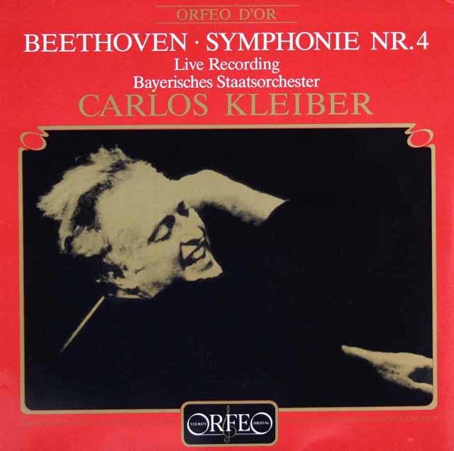 クライバーのベートーヴェン/交響曲第4番 独ORFEO 3216 LP レコード
