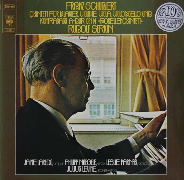 ゼルキンらのシューベルト/ピアノ五重奏曲「鱒」 独CBS 3216 LP レコード