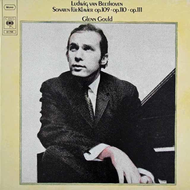 グールドのベートーヴェン/ピアノソナタ第30、31 & 32番 独CBS 3216 LP レコード