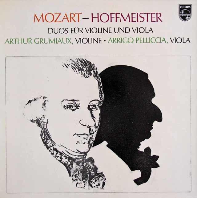 グリュミオー&ペリチアのモーツァルト&ホフマイスター/二重奏曲集 蘭PHILIPS 3216 LP レコード