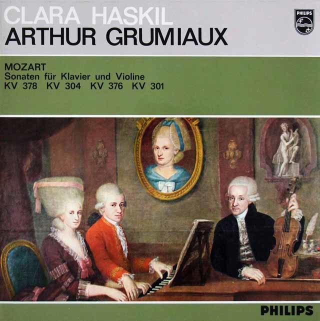グリュミオー&ハスキルのモーツァルト/ヴァイオリンソナタ集 蘭PHILIPS 3216 LP レコード