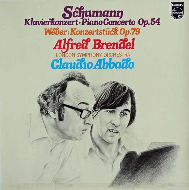 ブレンデル&アバドのシューマン/ピアノ協奏曲ほか 蘭PHILIPS 3216 LP レコード