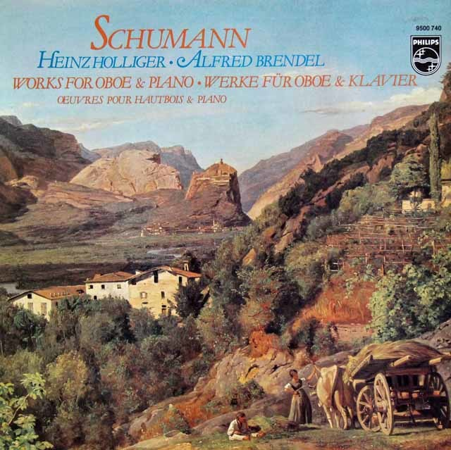 ホリガー&ブレンデルのシューマン/オーボエとピアノのための作品集 蘭PHILIPS 3216 LP レコード
