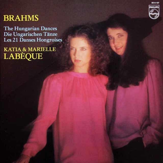ラベック姉妹のブラームス/ハンガリー舞曲集 蘭PHILIPS 3216 LP レコード