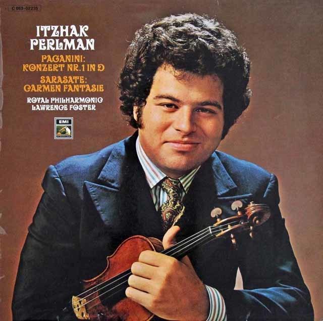 パールマンのパガニーニ/ヴァイオリン協奏曲第1番ほか  独EMI 3216 LP レコード