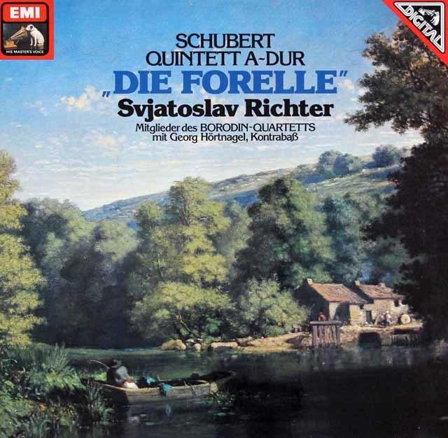 リヒテル&ボロディン四重奏団のシューベルト/「ます」 独EMI 3216 LP レコード