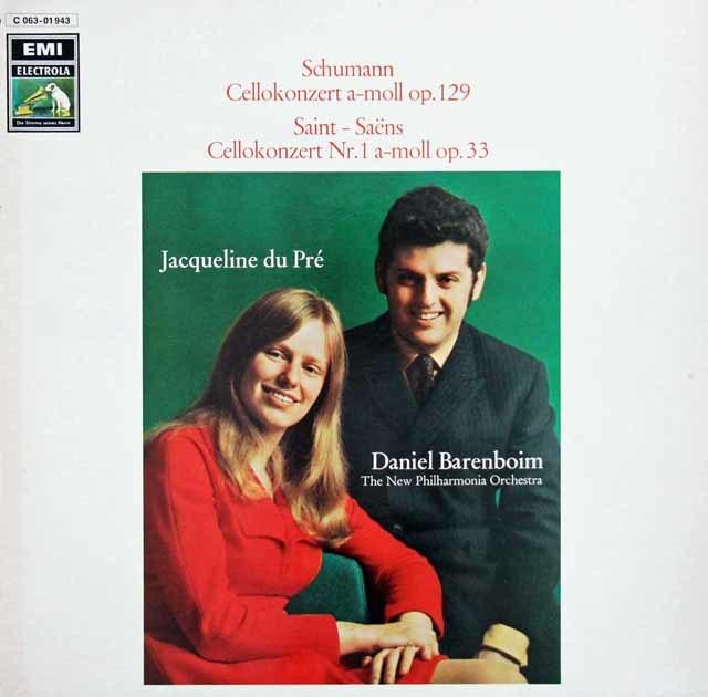 デュ・プレ&バレンボイムのシューマン/チェロ協奏曲ほか 独EMI 3216 LP レコード