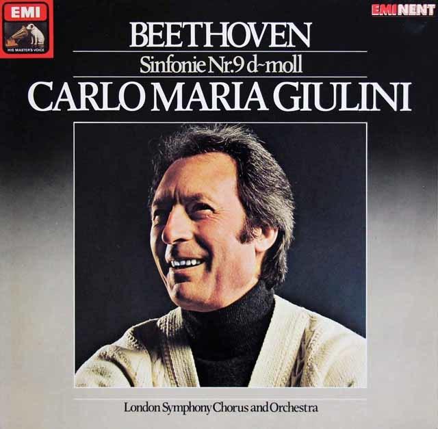 ジュリーニのベートーヴェン/交響曲第9番「合唱付き」 独EMI 3216 LP レコード