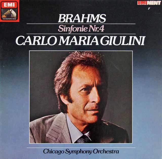 ジュリーニのブラームス/交響曲第4番 独EMI 3216 LP レコード