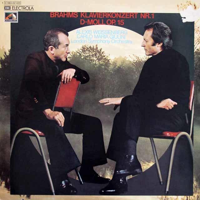ワイセンベルク&ジュリーニのブラームス/ピアノ協奏曲第1番 独EMI  3216 LP レコード