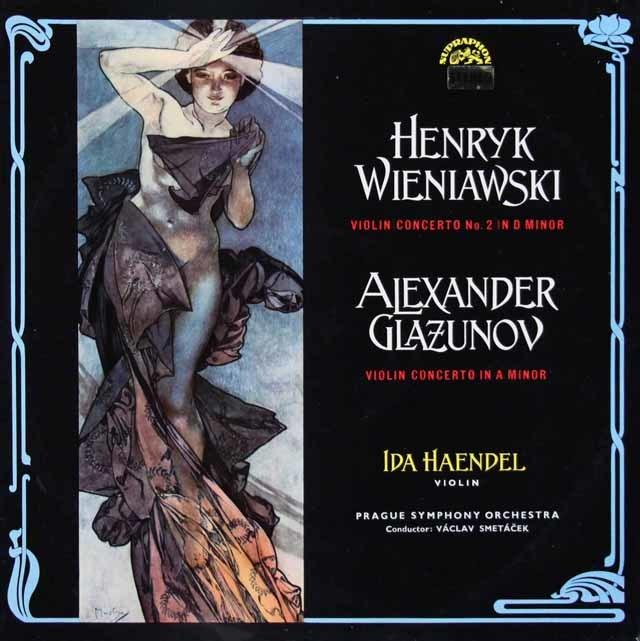 イダ・ヘンデルのヴィエニャフスキ&グラズノフ/ヴァイオリン協奏曲集 チェコSUPRAPHON 3216 LP レコード