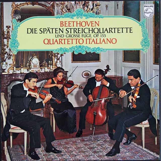 イタリア四重奏団のベートーヴェン/後期弦楽四重奏曲集 蘭PHILIPS 3216 LP レコード