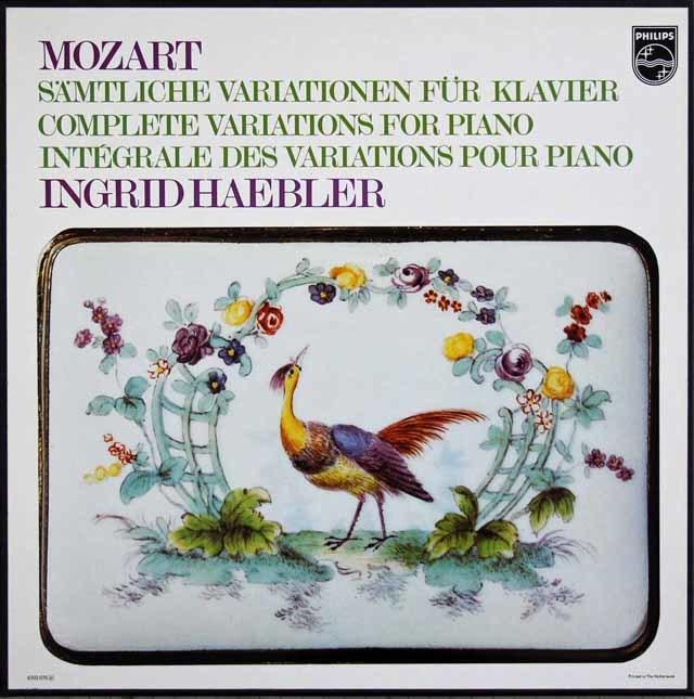 ヘブラーのモーツァルト/ピアノ変奏曲全集 蘭PHILIPS 3216 LP レコード