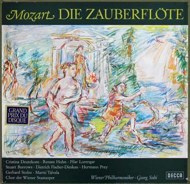 ショルティのモーツァルト/「魔笛」全曲 独DECCA 3216 LP レコード