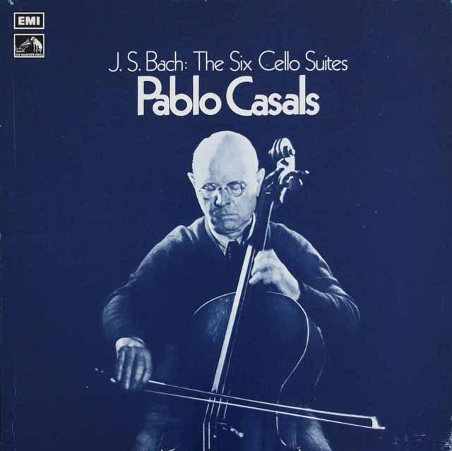 カザルスのバッハ/無伴奏チェロ組曲 英EMI 3216 LP レコード