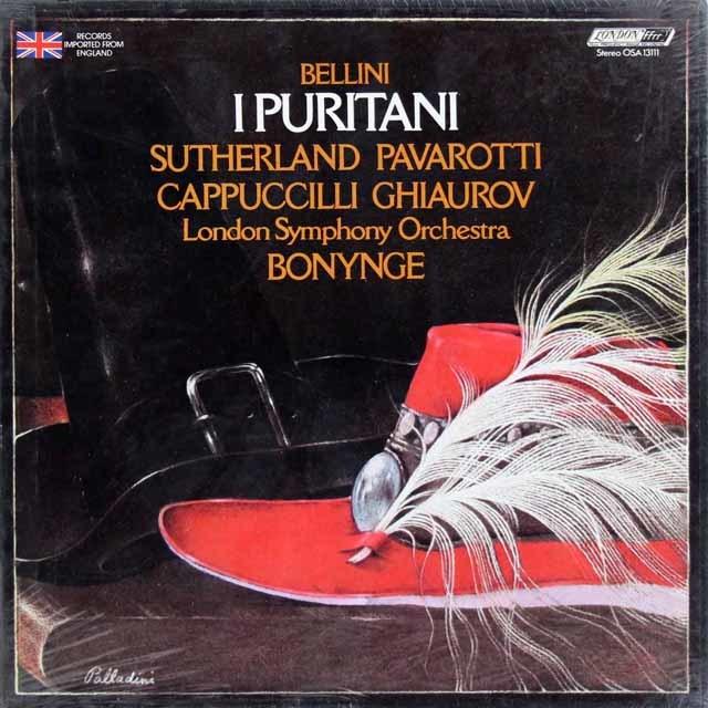【未開封】サザーランド&パヴァロッティのベッリーニ/「清教徒」全曲 英LONDON 3216 LP レコード
