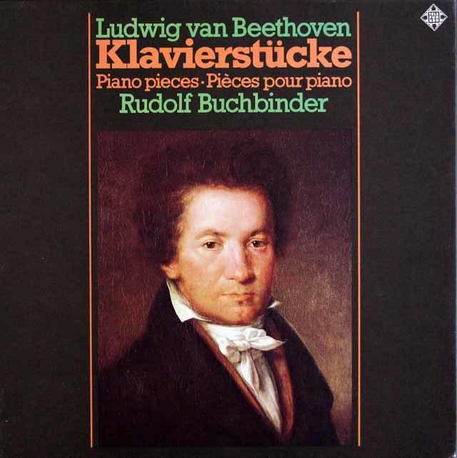 ブッフビンダーのベートーヴェン/ピアノの為の変奏曲全集 独TELEFUNKEN 3216 LP レコード