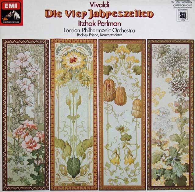 パールマンのヴィヴェルディ/「四季」 独EMI 3217 LP レコード