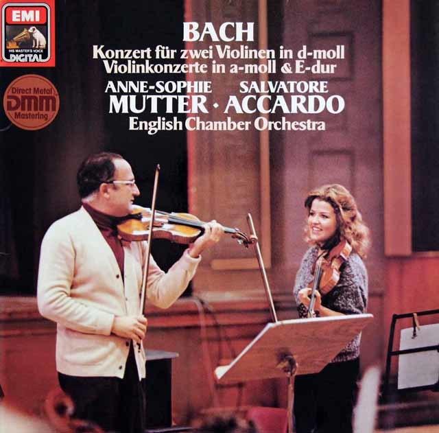 ムター&アッカルドのバッハ/2つのヴァイオリンのための協奏曲ほか 独EMI 3217 LP レコード