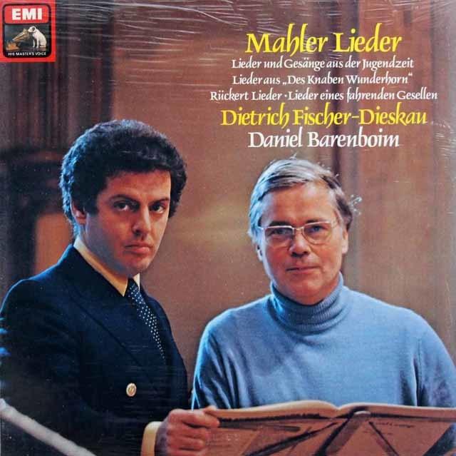 【未開封】 フィッシャー=ディースカウ&バレンボイムのマーラー/歌曲集 独EMI 3217 LP レコード