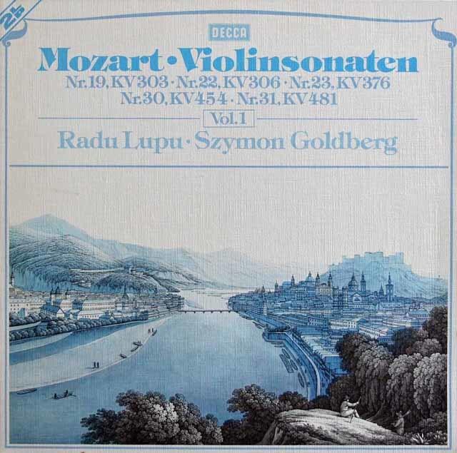 ルプー&ゴールドベルクのモーツァルト/ヴァイオリンソナタ集 vol.1 独DECCA 3217