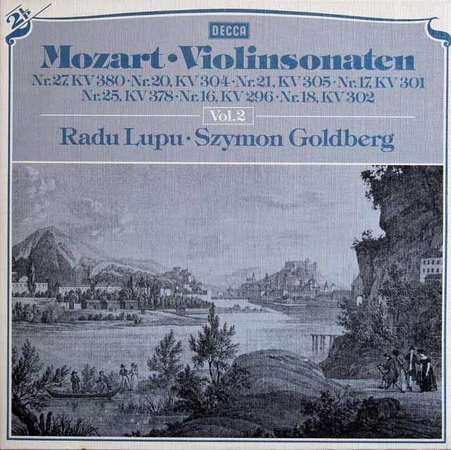 ルプー&ゴールドベルクのモーツァルト/ヴァイオリンソナタ集 vol.2 独DECCA 3217