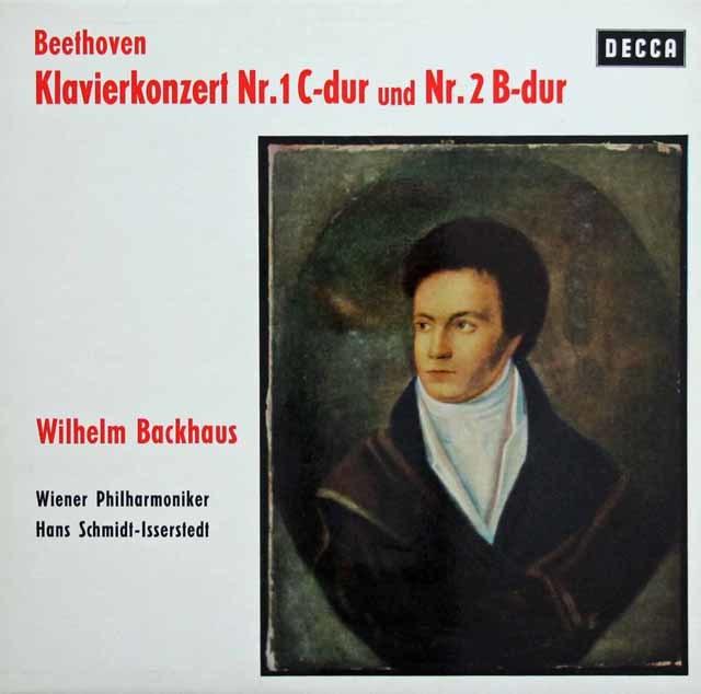 バックハウス&イッセルシュテットのベートーヴェン/ピアノ協奏曲第1&2番 独DECCA 3217 LP レコード
